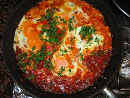 Delish Recipes: SHAKSHUKA - Tomatoes and Eggs Arabian Breakfast (Middle Eastern) | Delish Recipe | Scoop.it