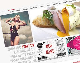 Quattro Restaurant Website - Webfeet Design | Quattro Restaurant Website | Scoop.it