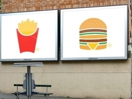 McDonald's Unveils the Simplest Ads It's Ever Made   NotTooBad -  IDEE IN TRANSITO   Scoop.it