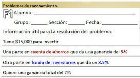 Matemáticas con Tecnología: Problema resuelto (inversiones - porcentajes).   Mathematics learning   Scoop.it