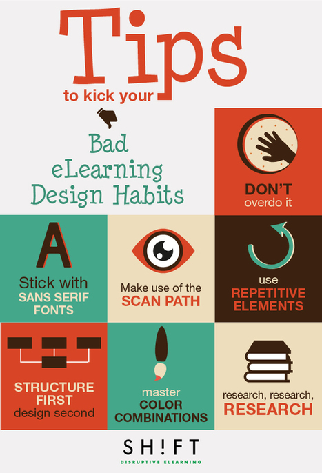 A Handful Of Tips To Kick Your Bad eLearning Design Habits | tech to learn | Scoop.it