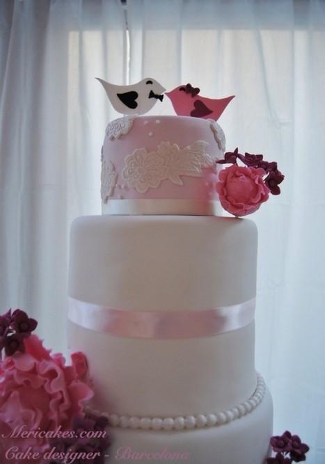 Pastel de boda Lace&Peony | Mericakes | Enlaces maravillosos | Scoop.it
