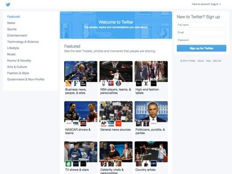 Twitter teste une nouvelle page d'accueil | Webmarketing et Réseaux sociaux | Scoop.it