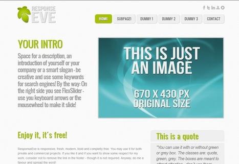 ResponseEve Responsive HTML5 Template   Design Cart   Html5 Templates   Scoop.it