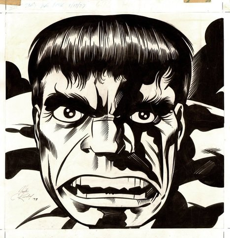 A piece done for the 1979 Hulk Calendar by Jack... | Jack Kirby | Scoop.it