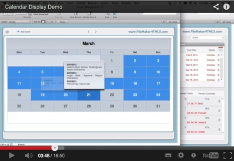 Calendar Display Demo | Filemaker  - iSolutions, Inc. | Filemaker (database use) | Scoop.it