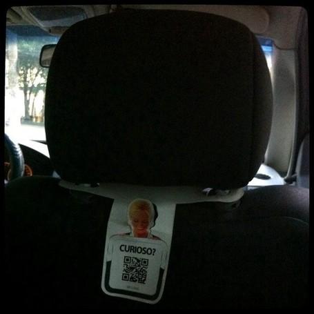 Usage du QR code dans un taxi