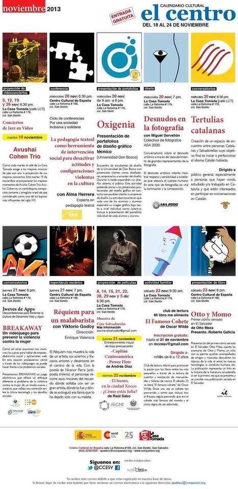 Actividades 18 al 24 nov en @CCESV #ElSalvador #cine #teatro ... | Actividades del Centro Cultural de España en El Salvador | Scoop.it