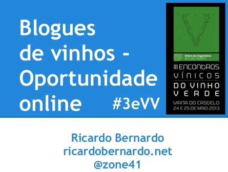 Blogues de vinhos - oportunidade online | @zone41 Wine World | Scoop.it
