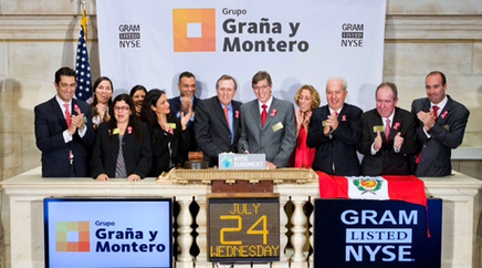 GyM emitió acciones en Wall Street por US$ 412.7 millones | Noticias Perú | Scoop.it