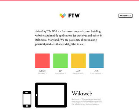 23 Examples of Flat Web Design | Inspiration | My Checked | Scoop.it
