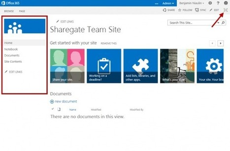 SharePoint 2013 : Afficher/masquer le menu QuickLaunch en 1 click | SharePoint 2010 - 2013 | Scoop.it