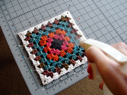 How To Spray Block Crochet or Knit Squares | Crochet help | Scoop.it