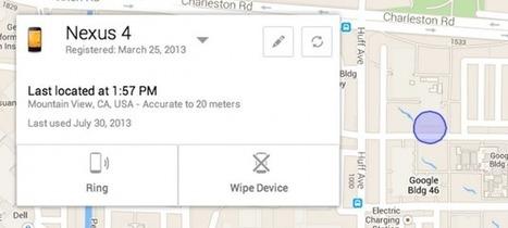 Google va lancer Android Device Manager, pour localiser et effacer son appareil à distance - FrAndroid | Android's World | Scoop.it