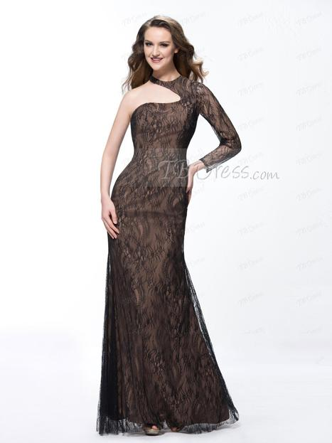 $ 133.39 Vogue Trumpet/Mermaid Jewel One Long Sleeve Lace Evening Dress Designed Independently | business | Scoop.it