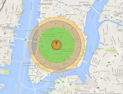What it would look like if the Hiroshima bomb hit your city | Social Studies Education | Scoop.it