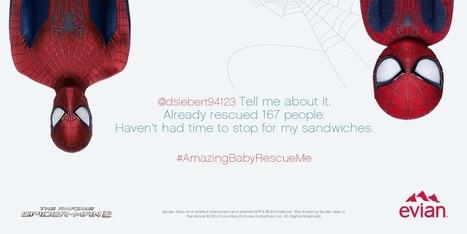 Baby Spider-Man et Evian volent au secours des internautes | Communication, marketing & agroalimentaire | Scoop.it