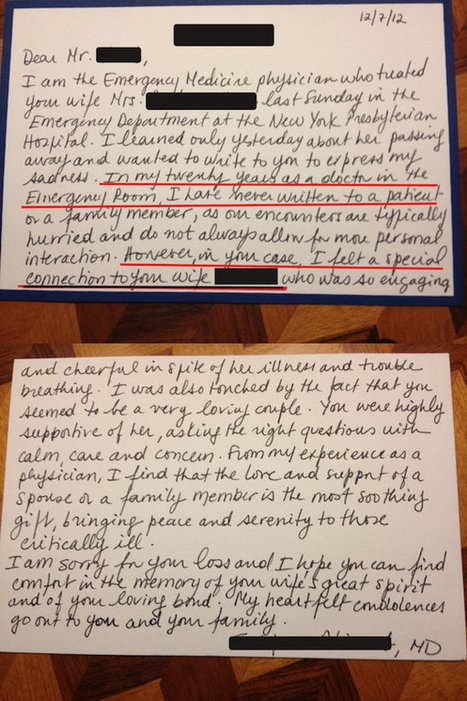 The Power of Letter Writing: Personal Note from ER Doctor Written After Woman's Death Goes Viral | Teaching a Modern Business Communication Course | Scoop.it