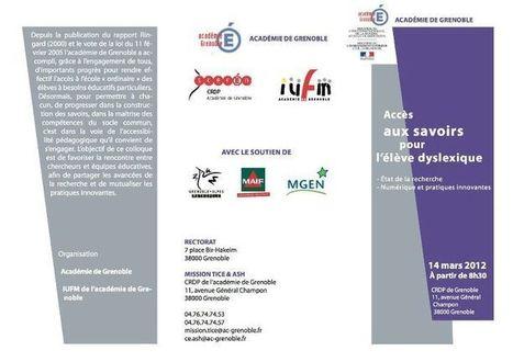 """colloque """"Accès aux savoirs pour l'élève dyslexique""""   TICE et italien - AU FIL DU NET   Scoop.it"""