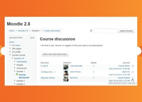 Overview of new features in Moodle 2.8 | What will our Moodle upgrade get us? | Scoop.it