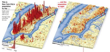 Day vs. Night population maps | Developing Spatial Literacy | Scoop.it