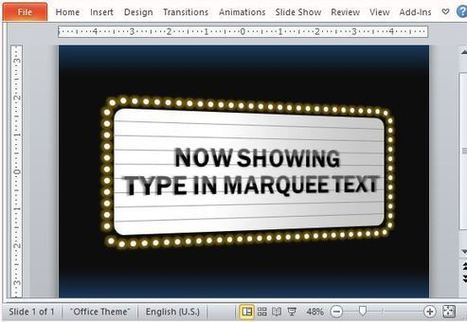 Movie Theater Sign PowerPoint Template | Free Office Templates | Scoop.it