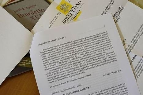 Démission du pape: de l'importance du latin dans le journalisme - L'Express | Net-plus-ultra | Scoop.it