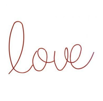 Gorgeous Rawspace Wire Word - Love | online shopping | Scoop.it