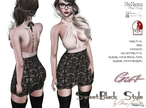 Valentine Dress Group Gift by SweetBlack   Secondlife freebies   Scoop.it