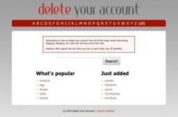 3 outils pour supprimer ses comptes en ligne | outils du web | Scoop.it