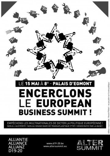 15 mai : encerclement du Palais d'Egmont et de l'European Business Summit | Occupy Belgium | Scoop.it
