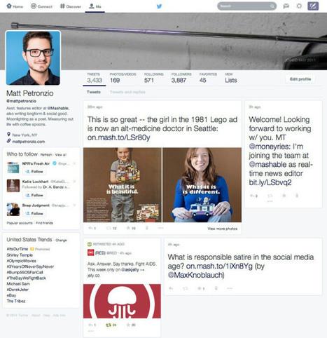 Twitter's Web Presence Might Soon Break Away From The Vertical Timeline Flow | TechCrunch | Twitter 3F: Family Friends Fun | Scoop.it