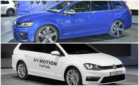 Volkswagen Golf Variant Goes From Hydrogen Green to R Performance Blue in LA [Live Photos]   Articles   Scoop.it