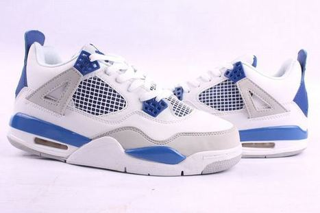 Retro 4: White & Blue Basketball Sport Footwear Online - Joran Shoes | my love list | Scoop.it