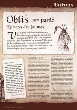 Oblis, le pays des brumes   Jeux de Rôle   Scoop.it