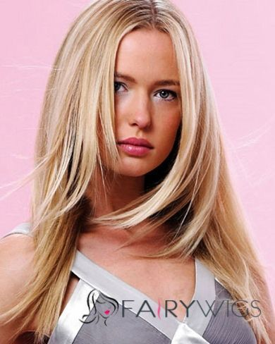 Cheap Full Lace Medium Straight Blonde Remy Hair Wig : fairywigs.com | Lace Wigs | Scoop.it