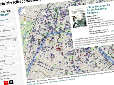 Carte : rue par rue, retrouvez plus de 600 films tournés à Paris - Rue89 | Immobilier | Scoop.it