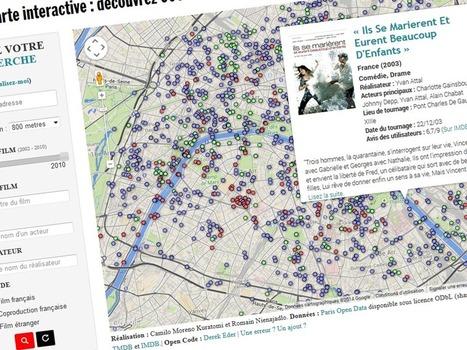 Carte: rue par rue, retrouvez plus de 600films tournés à Paris | Cartes et Insolites | Scoop.it