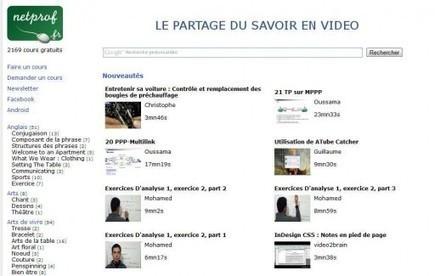 Le partage du savoir en vidéo, NetProf | Time to Learn | Scoop.it