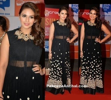 Huma Qureshi in Floor Lenght Black Anarkali Suit by Ridhi Mehra | Indian Fashion Updates | Scoop.it