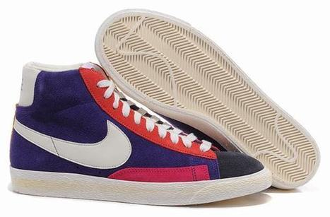 Nike Mens Blazer Hi Top Suede Vntg Qs Trainers Multi Color Pack Gridiron Sail Black | new and share style | Scoop.it