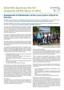 IUFRO: News | Ecosystèmes Tropicaux | Scoop.it