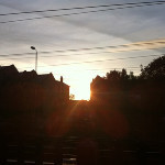 Sunrise from Harringay station. Oh the high flying actor life I lead. - via @AndrewJardine   Muswell Hill News   Scoop.it