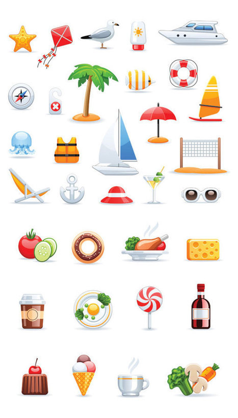 100+ Beautiful Free Vector Food and fruit collections - Free Vector Download - FreeVectors.me | freevectors.me | Scoop.it