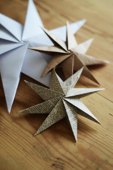 home by linn: paper star tutorial {make it} | Artdictive Habits : Sustainable Lifestyle | Scoop.it