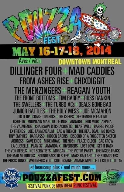 Pouzza Fest 2014 lineup (Hold Steady, Dillinger Four, Menzingers, more) +++ more rare Lillingtons Northeast shows | Pouzza Fest : digital press kit | Scoop.it