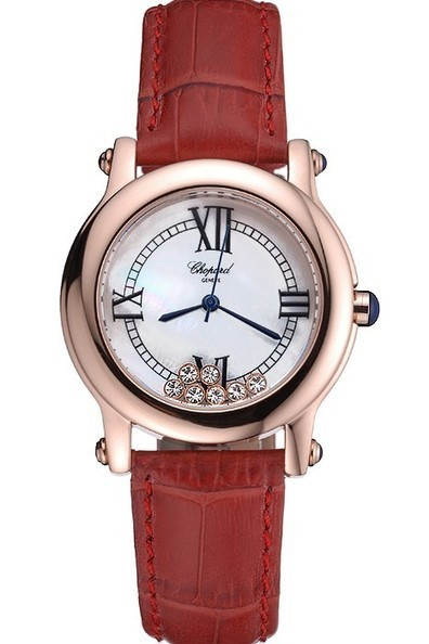 Replica Chopard White Dial Red Leather Strap Ladies Watch | Men's & Women's Replica Watches Collection Online | Scoop.it