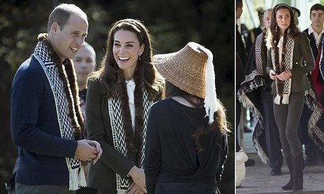 Kate and Wills court controversy by wearing scarves trimmed with fur | All about water, the oceans, environmental issues | Scoop.it