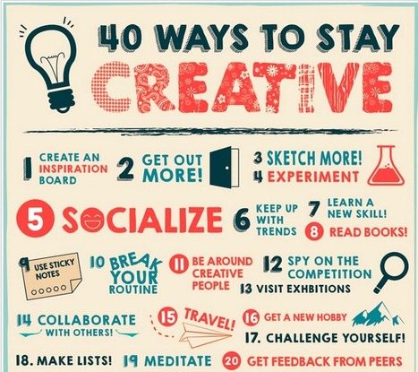 40 Ways to Stay Creative - Infographic | Useful School Tech | Scoop.it