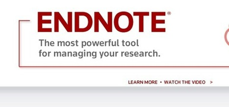 EndNote | Manage Bibliographies | Creating Library Learning Commons | Scoop.it